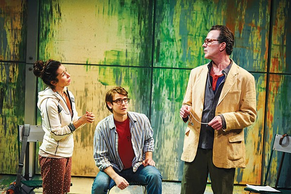 From left: Robin Abramson, Federico Rodriguez and John Feltch in City Theatre's Hope and Gravity