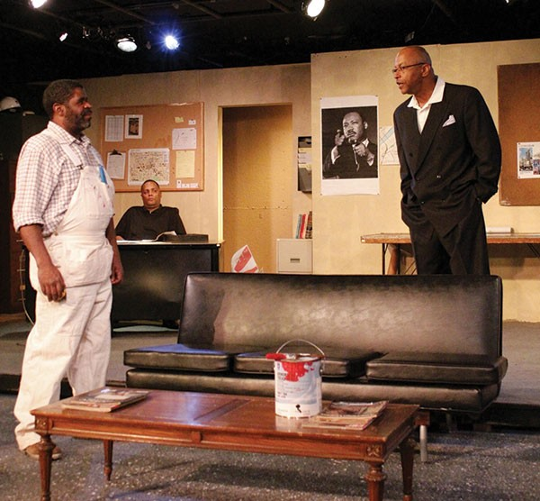 From left: Wali Jamal, Mark Clayton Southers and Art Terry in Pittsburgh Playwrights' Radio Golf.