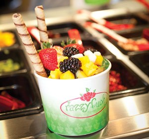 Fruit and cookies: You choose the toppings, at Razzy Fresh. - PHOTO BY RENEE ROSENSTEEL
