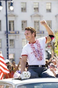 Gay days: Harvey Milk (Sean Penn) savors victory.