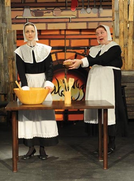 Gayle Pazerski (left) and Kelly Marie McKenna in The Book of Liz, at No Name Players. Photo courtesy of Lauren Zirchin.