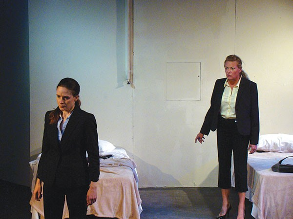 Gayle Pazerski, Lissa Brennan, in Dog & Pony's The Dumb Waiter