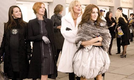 Girls just want to buy clothes: (from left) Kristin Davis, Cynthia Nixon, Kim Cattrall and Sarah Jessica Parker