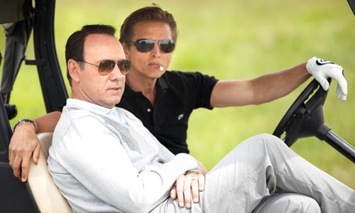 Golfing for dollars: Kevin Spacey and Barry Pepper