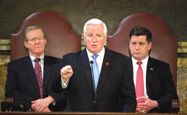 Gov. Tom Corbett has fingers pointing back at him for avoiding the state's transportation funding crisis.