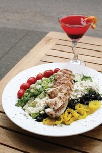 Greek chopped salad with grilled chicken - HEATHER MULL
