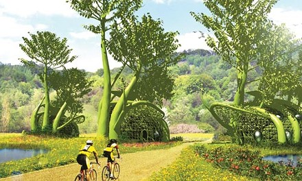 "Greenest envy: Terreform One's ""Fab Hab Tree Village."""