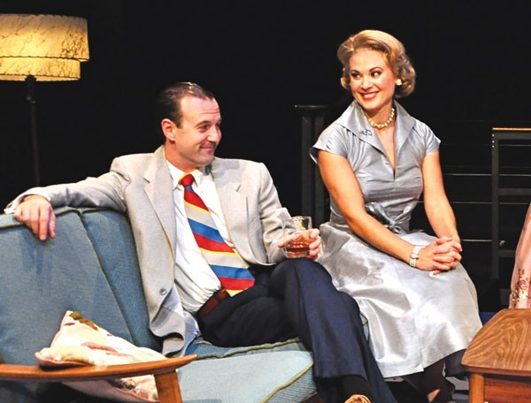 Greg McFadden and Caralyn Kozlowski in Maple and Vine, at City Theatre