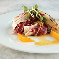 Grilled radicchio and endive salad