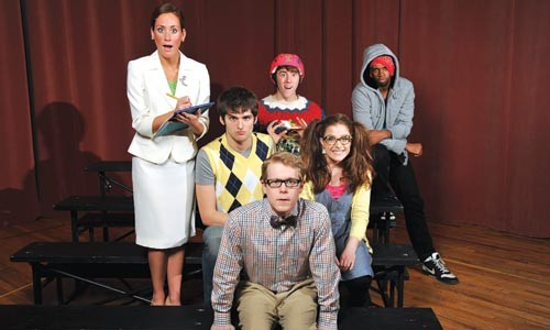H-E-A-R-T: The cast of CMU's The 25th Annual Putnam County Spelling Bee. - PHOTO COURTESY OF LOUIS STEIN FOR CARNEGIE MELLON UNIVERSITY