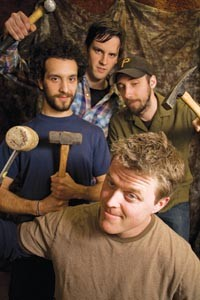 Hammertime: Knot Feeder's Andy Curl, Rob Spagiare, Andrew Grossmann and Mike Banfield, clockwise from left.