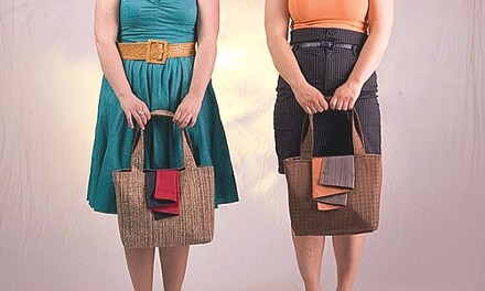 Handcrafted bags from Ray-Min's Shoulderware are among the goods at Make Shop Rock. - PHOTO COURTESY OF RYAN SIGESMUND