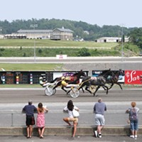 Harness racing at Meadows Casino, in Washington, Pa