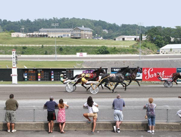 Harness racing at Meadows Casino, in Washington, Pa