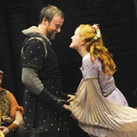 Hayden Tee and Kimberly Burns in <i>Camelot</i>.