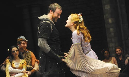 Hayden Tee and Kimberly Burns in Camelot. - PHOTO COURTESY OF PITTSBURGH PUBLIC THEATER.