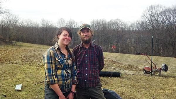 Heather McDezitt and Nick Lubecki on the new suburban plot in Allison Park