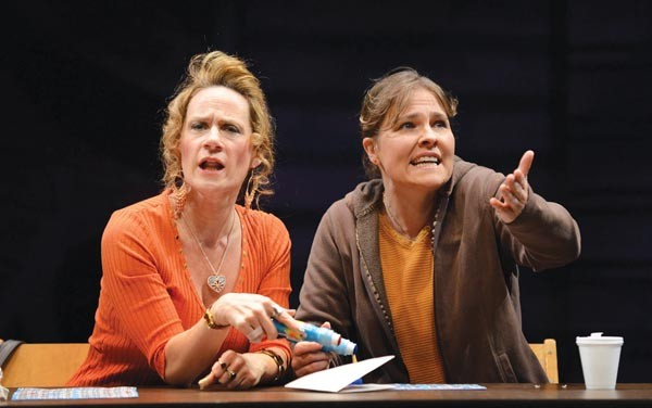 Helen Coxe (left) and Kelly McAndrew in Good People, at Pittsburgh Public Theater.