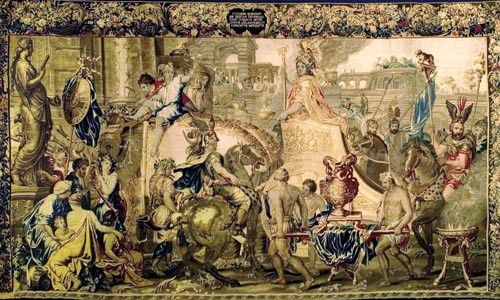 Here comes your man: Alexander Entering Babylon in Triumph (Charles Le Brun, designer).