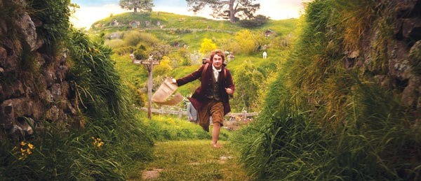 He's got to ramble on: Bilbo Baggins (Martin Freeman) begins his journey.
