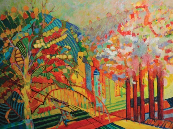 """Hillsides & Bridges,"" by Annie Bendle Ladley, in Pittsburgh by Pittsburgh Artists!"