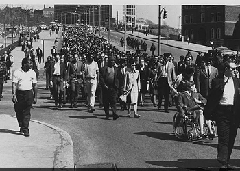 Historic Photo Exhibit Highlights March after King assassination