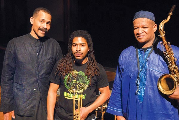 Hold the bass: Ethnic Heritage Ensemble (from left: Kahil El'Zabar, Ernest Dawkins, Corey Wilkes)