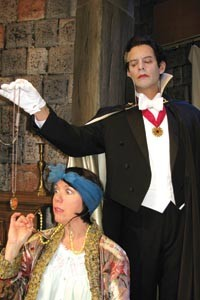 Holly Thuma and Sam Turich in Pitt Rep's Count Dracula.