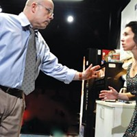 Hurt lockers: Steve Pickering and Robin Abramson in <i>Blackbird</i>, at City Theatre.