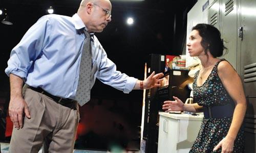 Hurt lockers: Steve Pickering and Robin Abramson in Blackbird, at City Theatre. - COURTESY OF SUELLEN FITZSIMMONS