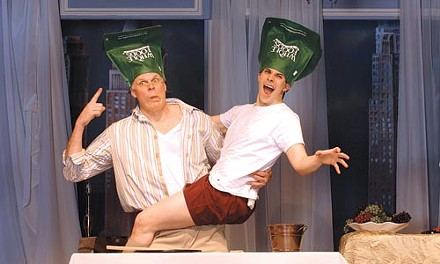 Im-prop-er: Tim Hartman (left) and Marcus Stevens in the CLO's The Big Bang. - COURTESY OF MATT POLK
