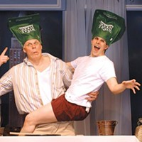 Im-prop-er: Tim Hartman (left) and Marcus Stevens in the CLO's <i>The Big Bang</i>.