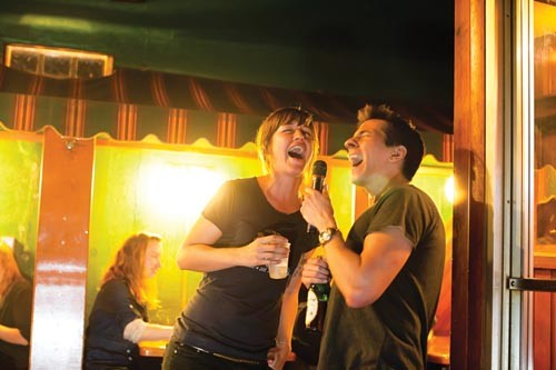 In harmony, at Nico's: Nikki Kemp and Josh Goreczny sing a duet. - PHOTO BY RENEE ROSENSTEEL