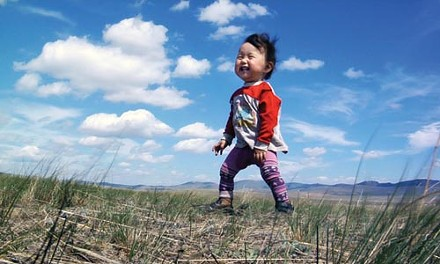 In Mongolia: Baby's first steppes