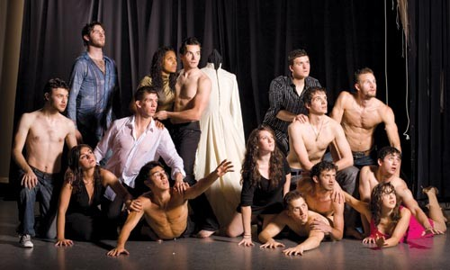In the dark: the cast of CMU School of Drama's The Other Shore.