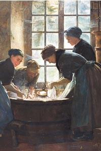"""""""In The Wash-house"""" (1888), by Anna Klumpke."""