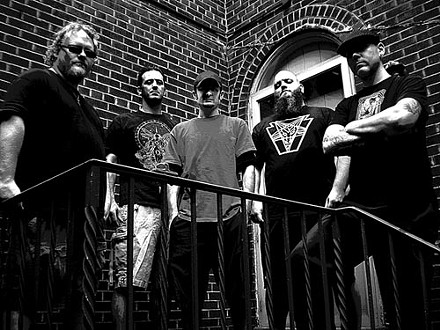 Innervenus founder Scott Massie (at far right) fronts Storm King (left to right: Adam Weston, Tom D'Andrea, Andy Kichi, Mark Bogacki)