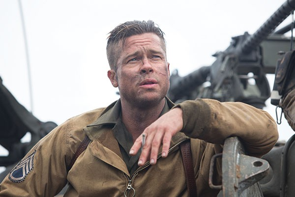 Into battle with Wardaddy (Brad Pitt)