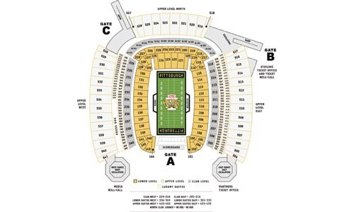 Investors may be wise to skip the stock page and study the Heinz Field seating chart.