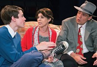 James Curry, Naomi Grodin and Bob Rak in Little Lake's Brighton Beach Memoirs