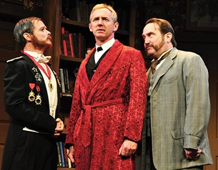James FitzGerald, David Whalen and Martin Giles in PICT's The Mask of Moriarity - PHOTO COURTESY OF SUELLEN FITZSIMMONS