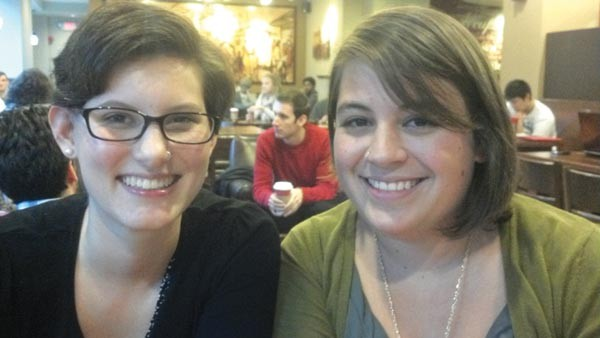 Jaz White and MaryPappalardo, the faces behind the Twitter account @FreeOaklandFood