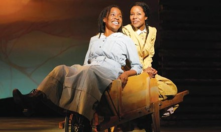 Jeannette Bayardelle (left) and LaToya London in The Color Purple at the Pittsburgh CLO. - PHOTO COURTESY OF PAUL KOLNIK.