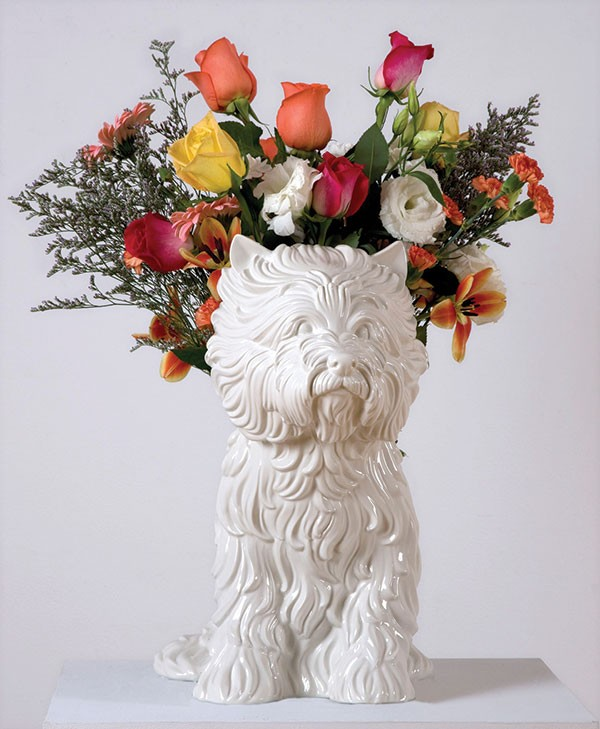 """comparision jeff koons puppy This """"flower puppy"""" serves to commemorate the 40-foot sculpture featuring an irrigation system and living, flowering plants that koons created for the entrance of."""