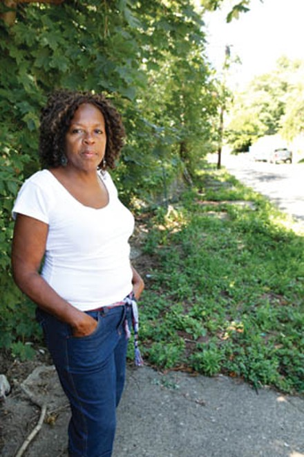Joanne Dunn says the city needs to do better for the street's residents. - PHOTO BY HEATHER MULL