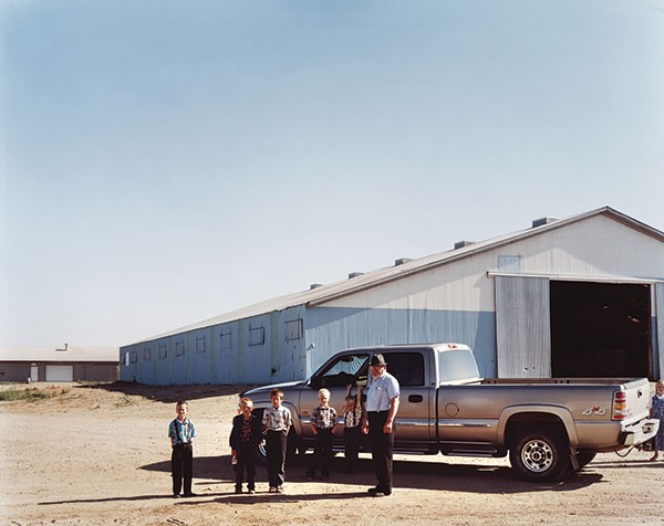 "Joel Sternfeld's ""New Elm Springs Colony,"" depicting Hutterites in South Dakota"