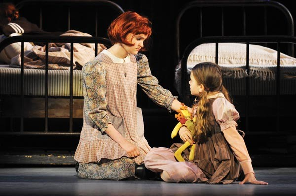 Johanna Loughran and Felicia Niebel in Pittsburgh CLO's Annie