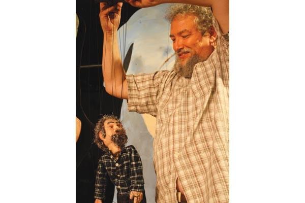 John Gresh in Caravan Theatre's 800 Words: The Transmigration of Philip K. Dick.