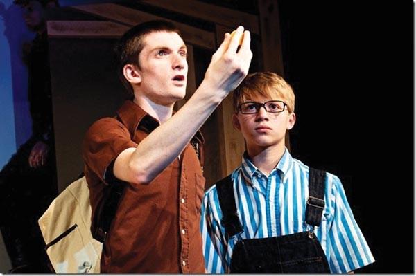John-Michael Breen and Joseph Serafini in Bald Theatre Co.'s The Burnt Part Boys.