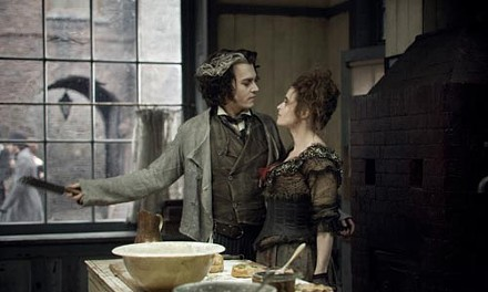 Johnny Depp and Helena Bonham Carter collaborate on whos for dinner.